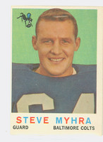 1959 Topps Football 43 Steve Myhra Baltimore Colts Good to Very Good