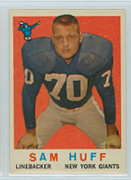 1959 Topps Football 51 Sam Huff ROOKIE New York Giants Excellent