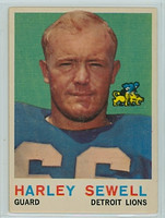 1959 Topps Football 73 Harley Sewell Detroit Lions Very Good to Excellent