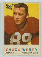 1959 Topps Football 94 Chuck Weber Philadelphia Eagles Excellent to Mint