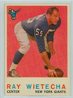 1959 Topps Football 99 Ray Wietecha New York Giants Excellent