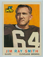 1959 Topps Football 101 Jim Ray Smith ROOKIE Cleveland Browns Excellent to Mint