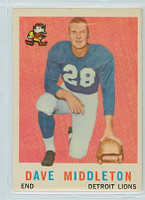 1959 Topps Football 113 Dave Middleton Detroit Lions Excellent to Mint