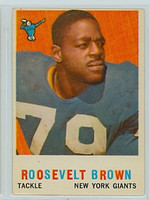 1959 Topps Football 114 Roosevelt Brown New York Giants Very Good to Excellent