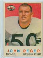 1959 Topps Football 124 John Reger Pittsburgh Steelers Excellent