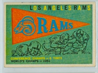 1959 Topps Football 126 Rams Pennant Excellent