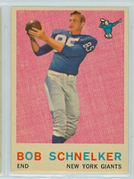 1959 Topps Football 128 Bob Schnelker New York Giants Very Good to Excellent