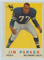 1959 Topps Football 132 Jim Parker ROOKIE Baltimore Colts Excellent to Mint