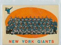 1959 Topps Football 133 Giants Team Very Good to Excellent