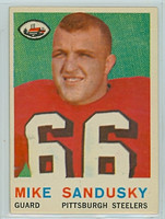 1959 Topps Football 136 Mike Sandusky Pittsburgh Steelers Excellent