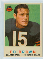 1959 Topps Football 137 Ed Brown Chicago Bears Excellent
