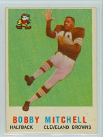 1959 Topps Football 140 Bobby Mitchell ROOKIE Cleveland Browns Excellent