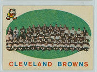 1959 Topps Football 161 Browns Team Good to Very Good