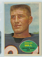 1960 Topps Football 16 Harlon Hill Chicago Bears Very Good to Excellent