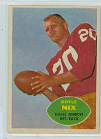 1960 Topps Football 39 Doyle Nix Dallas Cowboys Excellent