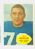 1960 Topps Football 40 Ray Krouse Dallas Cowboys Near-Mint
