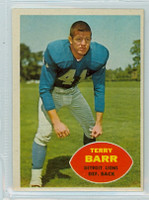 1960 Topps Football 47 Terry Barr Detroit Lions Excellent to Excellent Plus