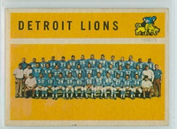 1960 Topps Football 50 Detroit Lions Excellent