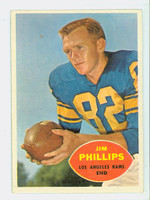 1960 Topps Football 66 Jim Phillips Los Angeles Rams Excellent to Excellent Plus