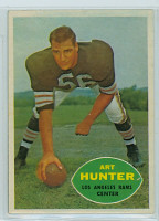 1960 Topps Football 67 Art Hunter Los Angeles Rams Excellent