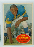 1960 Topps Football 70 John Baker Los Angeles Rams Excellent to Excellent Plus