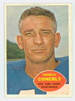 1960 Topps Football 72 Charley Conerly New York Giants Excellent