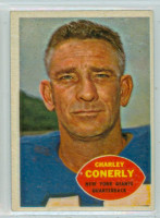 1960 Topps Football 72 Charley Conerly New York Giants Excellent to Excellent Plus