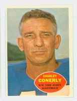 1960 Topps Football 72 Charley Conerly New York Giants Excellent to Mint