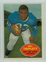 1960 Topps Football 73 Mel Triplett New York Giants Excellent to Excellent Plus