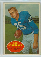 1960 Topps Football 76 Bob Schnelker New York Giants Excellent