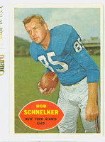 1960 Topps Football 76 Bob Schnelker New York Giants Excellent to Mint