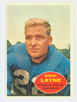 1960 Topps Football 93 Bobby Layne Pittsburgh Steelers Excellent to Excellent Plus