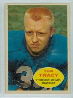 1960 Topps Football 95 Tom Tracy Pittsburgh Steelers Excellent to Excellent Plus