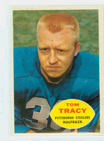 1960 Topps Football 95 Tom Tracy Pittsburgh Steelers Excellent to Mint