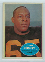 1960 Topps Football 98 John Nisby Pittsburgh Steelers Excellent to Excellent Plus