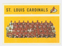 1960 Topps Football 112 St. Louis cardinals Very Good to Excellent