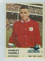 1961 Fleer Football 68 Charley Conerly New York Giants Excellent