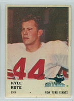 1961 Fleer Football 69 Kyle Rote New York Giants Very Good