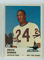 1961 Fleer Football 73 Erich Barnes New York Giants Excellent to Excellent Plus