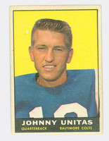 1961 Topps Football 1 Johnny Unitas Baltimore Colts Very Good to Excellent