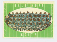 1961 Topps Football 9 Colts Team Very Good to Excellent