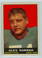 1961 Topps Football 35 Alex Karras Detroit Lions Excellent