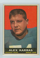 1961 Topps Football 35 Alex Karras Detroit Lions Excellent to Mint