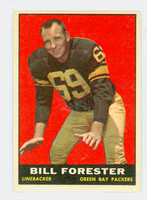 1961 Topps Football 46 Bill Forester Green Bay Packers Excellent to Mint