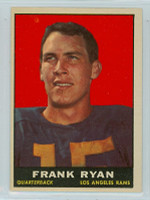 1961 Topps Football 48 Frank Ryan Los Angeles Rams Excellent to Mint