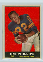 1961 Topps Football 51 Jim Phillips Los Angeles Rams Excellent