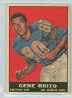 1961 Topps Football 54 Gene Brito Los Angeles Rams Excellent