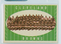 1961 Topps Football 76 Browns Team Excellent to Mint