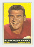 1961 Topps Football 79 Hugh McElhenny Minnesota Vikings Very Good to Excellent