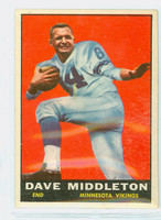 1961 Topps Football 81 Dave Middleton Minnesota Vikings Excellent